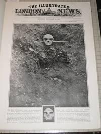 Титульный лист The Illustrated London News от 19 ноября 1921 г с фото родезийского черепа на месте находки (вверху) и черепа неандертальца из Гибралтара (внизу)